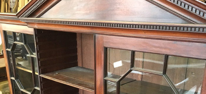 Georgian Breakfront Mahogany Bookcase